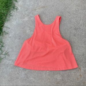 Lucy Orange Jersey Crop Top Workout Tank Bra Small